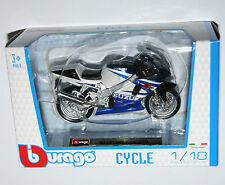 BURAGO-modèle de moto SUZUKI GSX-R750 échelle 1:18