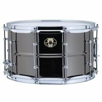"Ludwig LW0814C Black Magic Snare Drum w/ Chrome Hardware & Tube Lugs, 8"" x 14"""