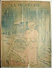 """Lautrec original 1895 poster """"Le Tocsin"""""""