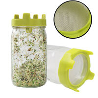 Stainless Steel Seed Sprouter Germinator Sprouting Strainer Kit for Jars B ga