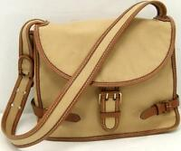 Bruno Magli Natural Canvas Leather Trim Women's Shoulder Bag