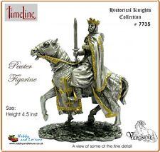 Veronese Pewter Medieval King on Horseback 4.25ins Myths and Legends # 7735 BNIB