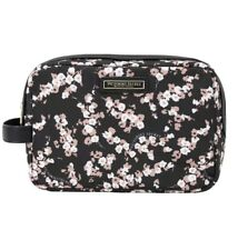 Victoria's Secret Carry-All Makeup Case Beauty Travel Bag Floral Midnight Rose