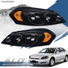Amber Corner Black Headlights Fit For 06 13 Chevy Impala06 07 Monte Carlo Fits 2006 Impala