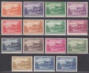 Norfolk Island 1947-59 KGVI Ball Bay Set Mint SG1-12a cat £35+ Australia