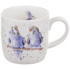 "New Royal Worcester Wrendale ""Date Night"" budgerigar budgie mug, bone china"