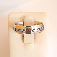 Free Stamps Personalized Name Ring Stainless Steel 6 mm II