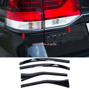 For Land Cruiser LC200 2016-20 Glossy Black Rear Taillight Moulding Trim Strips
