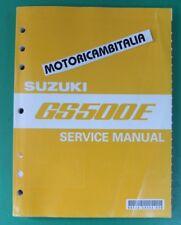 SUZUKI GS500 E SERVICE MANUAL HANDBOOK REPAIR  WORKSHOP WERKSTATTHANDBUCH