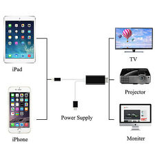 High Quality Lightning 8 Pin to HDMI Male Cable Adapter for iPhone iPad - Black