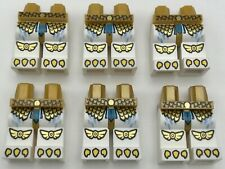 LEGO LOT OF 6 WHITE AND GOLD MINIFIGURE CHIMA BIRD LEGS MONSTER PANTS PIECES