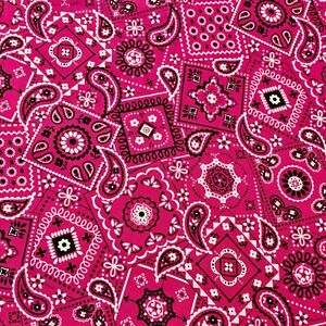 Waverly Paisley Bandana Magenta Sewing Quilting Fabric FQ