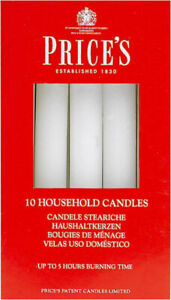 Price's White Household Candles, 4x10 Pack, 40 Candles