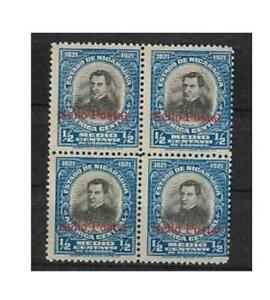 "Nicaragua 415, 1923, 4-er-Block ""Sello Postal"", wenige Tage verwendet,  ** #n742"