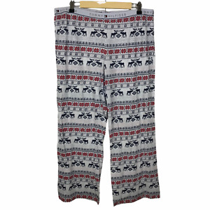 Tommy Hilfiger Men's Pajama Pants XL Pull On Fair Isle Winter Holiday Lounge