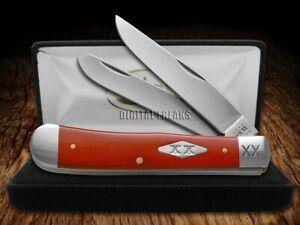 Case xx Smooth Dark Red Bone 23118 Trapper 1/500 Stainless Pocket Knife