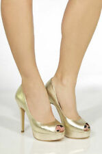 Leather Clubwear Open Toe Solid Shoes for Women