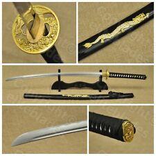 Ryujin Golden Dragon Samurai Katana Sword Full Tang Live Blade