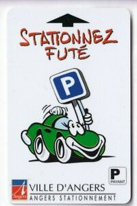 PIAF PARKING CARTE / CARD .. 15€ ANGERS 49 AUTO CAR V° 8LN MAGNETIQUE