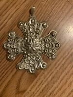 1974 Reed and Barton Christmas Cross Ornament Sterling Silver No Box.