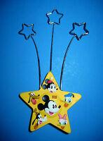 Disney Photo Stand Holds 3 Photos Walts 100th 1928 - 2001 Yellow Star Hallmark