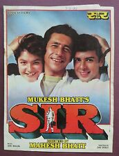 Bollywood Press Book Movie promotional Song book Pictorial Sir (1993)