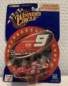 NASCAR 2000 Winner's Circle #9 Bill Elliott 1:64 Diecast Car Driver Sticker