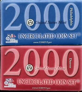 United States Mint 2000 Uncirculated P&D Coin Sets MA,ME,VA,SC,MD   Trade Option