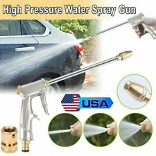 High Pressure Sprayer Power Washer Water Spray Gun Brass Garden Hose Nozzle - US