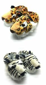Unisex LION TIGER Animal Novelty Funny Slippers All UK Sizes Kids to Adults