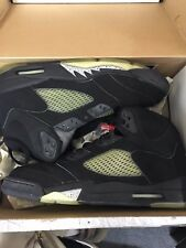 1999 VINTAGE NIKE AIR JORDAN V RETRO BLACK METALLIC SILVER SZ 13 136027-001