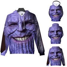 The Avengers 4 Endgame Thanos Hoodie Smile Superhero Cotton Pullover Sweater