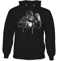 Boxing Gorilla Mens Funny Gym Hoodie MMA Muay Thai Kick Boxing Training Top