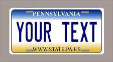 "PENNSYLVANIA custom novelty license plate-your name or text 6""x12"""