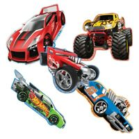 Hot Wheels Stickers - Hot Wheels Shaped x 5 - Birthday Party Supplies Favours