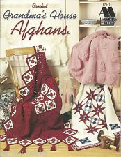 Grandma's House Afghans Annie's Attic Crochet Patterns Quilt Roses Stripes NEW