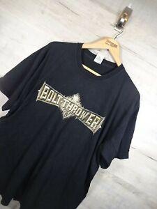 Vtg Rare Music band Bolt Thrower 2006 those still loyal black Graphic T Shirt XL