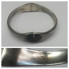 Silberarmband Armspange 925er Silber Silberschmuck mit Onyx