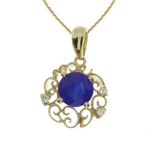 """14k Yellow Gold PEAR Sapphire Pendant With 18"""" Chain"""