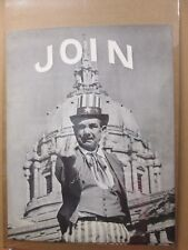 Vintage 1967 B/W Poster  JOIN  F@ck you Political in#G2062