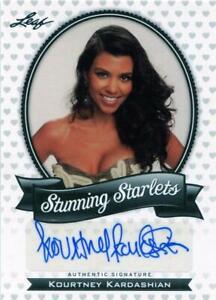 Kourtney Kardashian 2011 Leaf Stunning Starlets Autograph