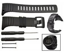 NEW Rubber Replacement Watch Band Strap For SUUNTO CORE SS014993000 BLACK