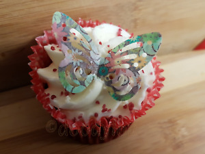 EDIBLE BUTTERFLIES CUPCAKE CAKE TOPPER DECORATIONS WAFER PAPER BUTTERFLY VARIOUS