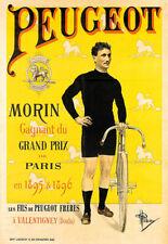 A3 Art Poster  Peugeot  1896 Cycle Bicycle Bike Print