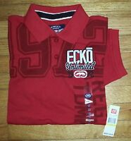 Ecko Unlimited Shirt Polo S/S NWT M 1972 Ecko Unltd Solid Red Design s3067