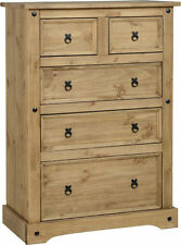 Bedroom Pine More than 200cm 5 Chests of Drawers