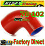 """90Degree 76-102mm 3"""">4"""" Silicone Elbow Reducer Hose INTAKE INTERCOOLER PIPE RED"""