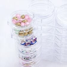 Nail Art Jewelry Container 12 Slots Rotate Box Rhinestones Empty Case Holder