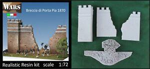 WARS 17-72 Breccia di Porta Pia 1870 kit resina diorama presa di Roma scala 1:72