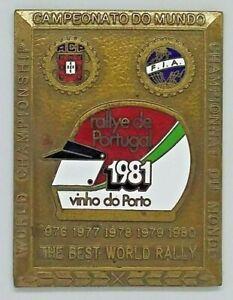 Rare Bronze Race Badge WRC - FIA -15º Rallye de Portugal Vinho do Porto 1981